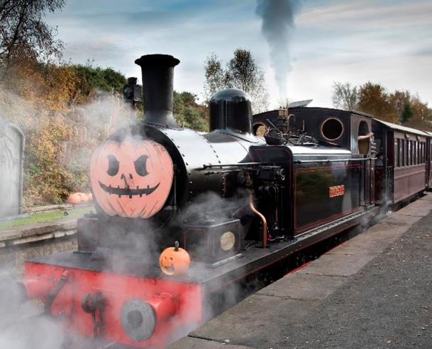 halloween tanfield ghost train