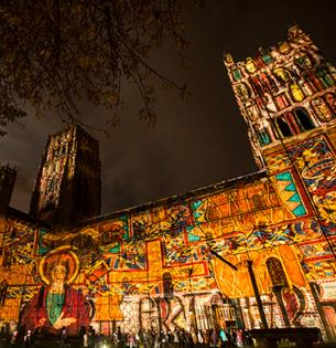 It's official! UK's largest light festival 10th anniversary spectacular will Help Durham Shine