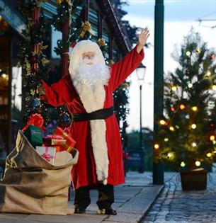 Santa at Beamish