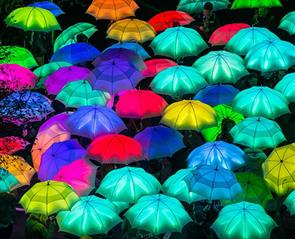 Umbrellas at Lumiere Durham
