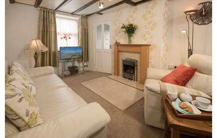 Living Room at Corner Cottage Wolsingham