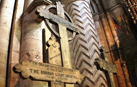 Durham Cathedral - The Butte de Warlencourt Battlefield Crosses