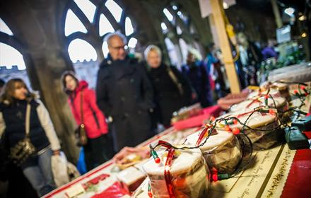 Regional Producer's Market in Durham Cathedral Cloisters: Durham Cathedral