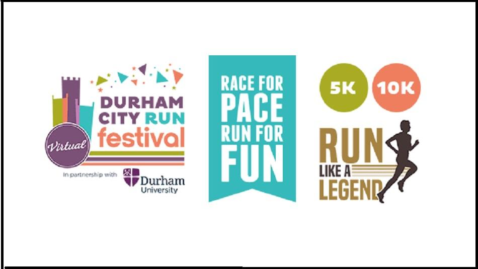 virtual Durham City Run poster