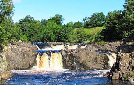 Low Force waterfall, situated nearby to Bowlees Visitor Centre