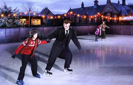 Ice Skating at Beamish