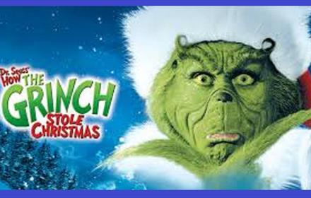 Festive Afternoon Tea at the Movies showing The Grinch