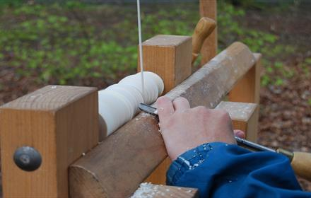 Auckland Castle Workshop - Traditional Pole Lathe - Green Wood Turning