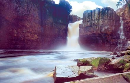 high force waterfall, teesdale, county durham. attraction