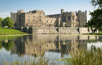Raby Castle grounds with stunning lake