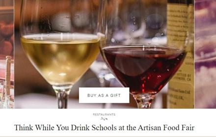 Think While You Drink Schools at the Artisan Food Fair: Rockliffe Hall