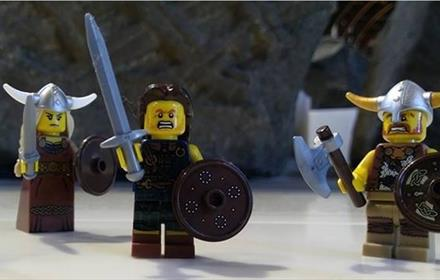 Lego Viking Figures at Durham Cathedral: The Vikings in Northumbria