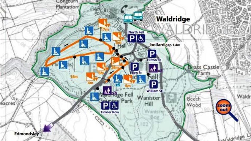 Waldridge Fell Country Park Walking Route Walking Route In Chester Le Street Waldridge This