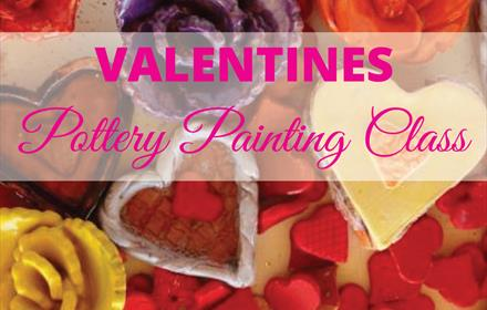 Childrens Valentines Pottery Painting